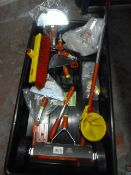 *Tray of Assorted Wolfgarten Tools and Attachments
