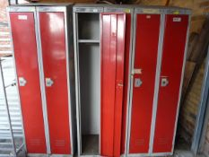 Three Double Metal Lockers