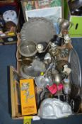 Metalware; Sports Trophies, Trays, Jelly Moulds, e