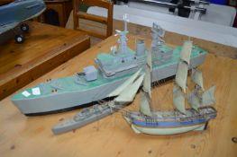 Three Model Ship
