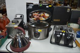 Electrical Items; Delonghi Slow Cooker, Toaster, K