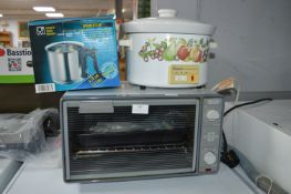 Delonghi Mini Oven, Swan Slow Cooker, and a Simmer
