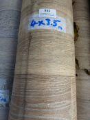 Roll of Wood Effect Lino 4x3.5m