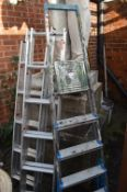 Two Aluminium Extending Loft Ladders, and Aluminiu