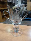 Large Glass Golfing Trophy