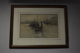 Framed Print of a Fish Boat Leaving the Harbour