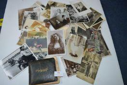 Vintage Postcards, Photographs, and an Autograph A