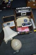 Electrical Items; Ferguson DAB Radio, Lamps, Bush