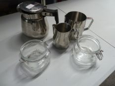 * selection of S/S jugs and jars