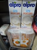 * orange juice and soya milk - 16 litres