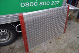 *Aluminium Checker Plate Ramp (2.5 Tonne safe working limit)
