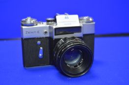 Zenit-E SLR Camera with Helios-44-2 2/5.8 Lens