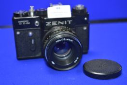 Zenit TTL SLR Camera with Helios-44M 2/58 Lens