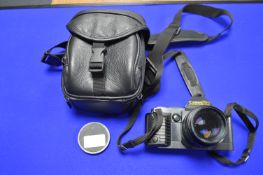Canon T70 SLR Camera with Canon Lens FD 50mm 1:1.4 plus Case