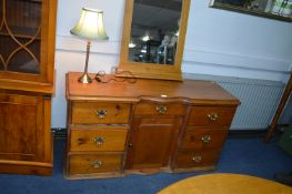 Period Pine Sideboard with New Brass Handles 173x7