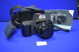 Yashica 230AF Auto Focus Camera with Sigma 1:3.5-4.5 70mm Zoom Lens