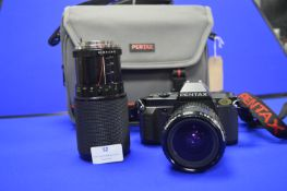 Pentax P30N Camera with Pentax and Vivitar Lenses