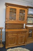 Pine Dresser with Glazed Cabinet Top 123cm wide, 2