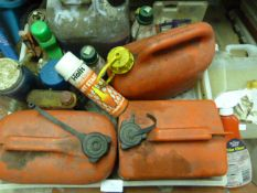 Petrol Cans and Assorted Part Used Car Products