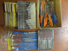 Box of Assorted Fine Detail Files, and Screwdriver