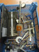 Box of Assorted Engineering Tools Including Vernie