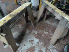 Pair of Wooden Trestles