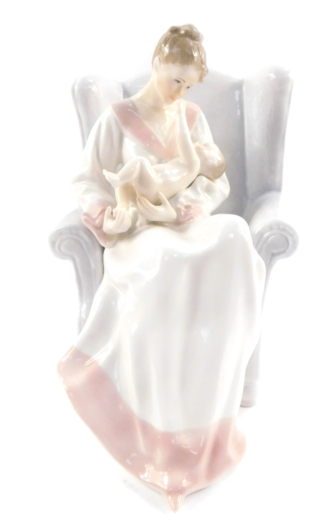 Lot 27 - A Royal Doulton figure modelled as Hush A Bye Baby, special edition, sculpted by Peter Adland,
