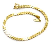 A 9ct gold fancy link bracelet, with S shaped links, and single clip link, 16cm long overall, 4.8g