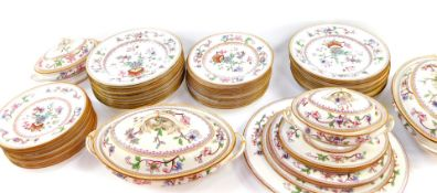 A Royal Worcester porcelain Japan pattern dinner service, c1906, No 5969, printed and painted marks,