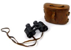 A pair of W Watson & Sons Limited military binoculars 1919, Superior Prismatic No 3 (Mk. I) x6,