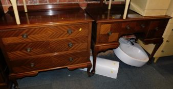 An Edwardian compactum wardrobe, 199cm high, 134cm wide, 55cm deep., together with a matching