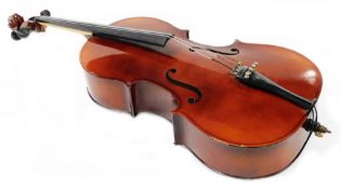 A 20thC Rosetti Stradivarius model cello, with one piece back, 103cm high.