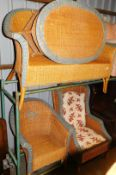 A three French Grange piece patio suite, comprising two seater settee, 138cm wide, tub armchair and