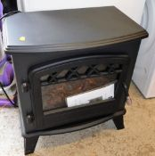 A Galleonfires Castor black electric stove