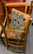 Two bedroom chairs, with caned seats.