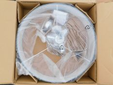 A Zipcode Design Kaylyn Andria grey three light ceiling light, RRP £74.99.