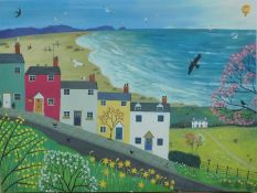 An Art Group Jo Grundy Pool Spring is in the Air canvas wall art print, RRP £36.99.