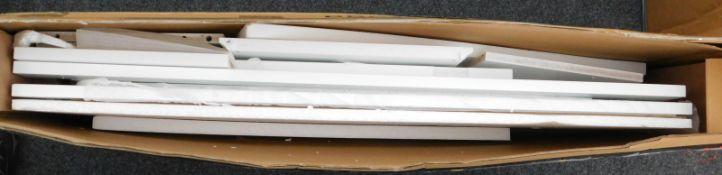 A Vasagle white floor cabinet with door, RRP £65.99.