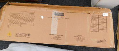 A Lassic Chelsea Benajah white radiator cover, RRP £53.99.