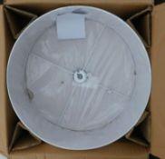 A Dar Ponda drum pendant in white, 60cm wide, RRP £72.99.