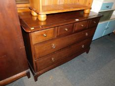A Stag Minstrel chest of four over two drawers, 72cm high, 107cm wide, 47cm deep., together with a