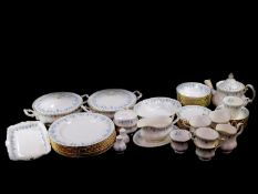 A Royal Albert porcelain part dinner and tea service decorated in the Memory Lane pattern,