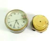 A North and Sons Ltd Watford vintage car clock, no. 2705, 8.5cm diameter, together with a further