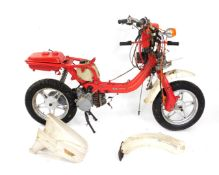 A Suzuki FZ50 moped, (AF).