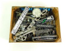 Metal car badges, to include Austin 2200., Ford., Freight Rover., VW and Triumph. (a quantity)