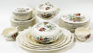 A Royal Doulton Hampshire pattern part dinner service, no. D6141, with decoration of a fruit bowl