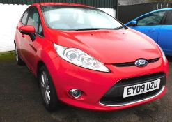 A Ford Fiesta Zetec 82, five door hatchback, first registered 11th March 2009, petrol, manual, 53,