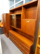 A teak Nathan type room unit, and a teak wardrobe. (2)