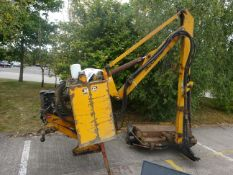 McCONNELL HIGH REACH HEDGE CUTTER 3 POINT LINKAGE, ELECTRIC CONTROL BOX USED THIS YEAR