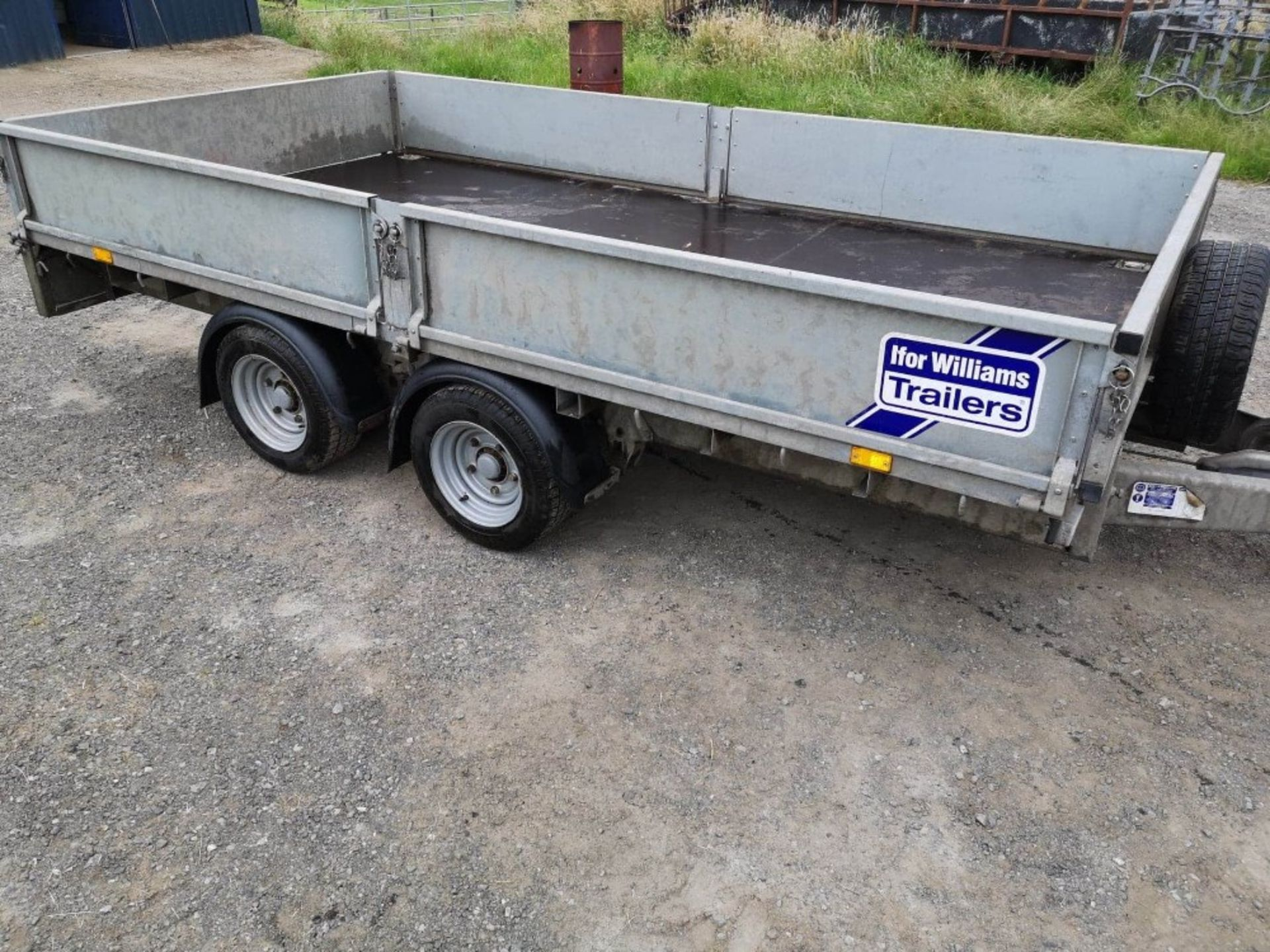 Lot 232 - IFOR WILLIAMS TWIN AXLE 12' DROPSIDE TRAILER,LM126G,C/W RAMPS
